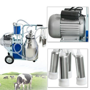 Cow Milker Electric Piston Milking Machine For Cows Farm 25l Bucket Usa Stock