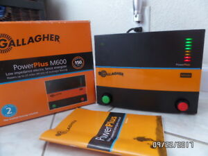 Gallagher Power Plus M600 Fence Charger 150 Acres 25 Mile 6 Joules Bull Cows