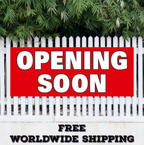 Opening Soon Advertising Vinyl Banner Flag Sign Now Opening Signs Open Grand New