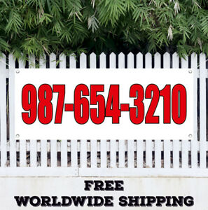 Custom Advertising Vinyl Banner Flag Sign With Your Phone Number Retail Store