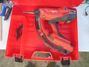 Hilti Gx120 Fastening Nail Gun Fully Automatic Gas Actuated Great Condition Wow