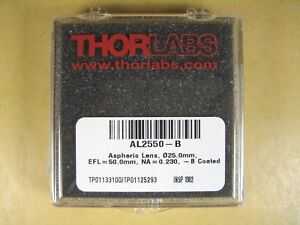 Thorlabs Al2550 b 012 5mm N bk7 Aspheric Lens F 25mm Na 0 23 Arc 650 1050nm
