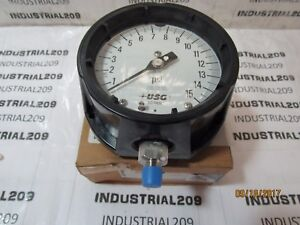 Ametek Usg 155022x Fig 1981 Pressure Gauge 15 Psi New In Box