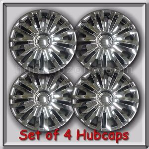 2013 2014 15 Vw Volkswagen Golf Replacement Hubcaps Set 4 Chrome Wheel Covers