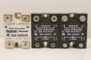 Potter Brumfield Ssr 240d25 Solid State Relay lot Of 3