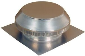Home Construction 12 inch Round Roofing Louver Exhaust Vent Aluminum Mill Finish