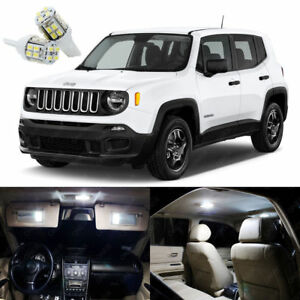 11 X Xenon White Led Interior Lights Package Kit For Jeep Renegade 2015 2019