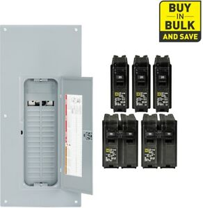 Square d 225 amp 30 space 60 circuit Indoor Main Breaker Panel Box Load Homeline
