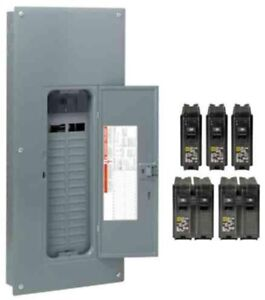Square D 200 Amp Load Center Main Breaker Panel Electrical 60 circuit 30 space