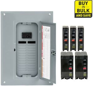 Square D 100 Amp Load Center Main Breaker Panel Electrical 24 circuit 24 space