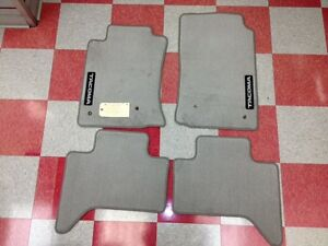 2005 2011 Tacoma Double Cab Carpet Floor Mats Light Charcoal Gray Genuine Toyota