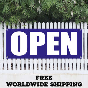 Open Advertising Vinyl Banner Flag Sign Grand Opening Now Open Store New Shop