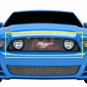 Aal 2013 2014 Ford Mustang Gt Upper Billet Grille Insert with Logo Cut out