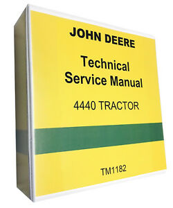 John Deere 4440 Tractor Technical Service Shop Manual With Binder Fastship