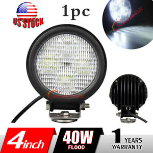 1x 40w 4inch Off Road Led Work Light Light Round Driving Fog Lamp For Jeep Truck