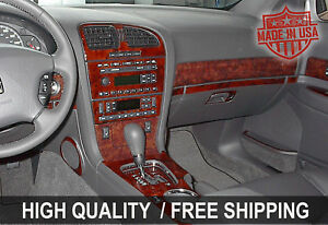 Fits Jeep Grand Cherokee 11 14 Interior Wood Grain Dashboard Dash Kit Trim Parts