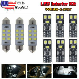 9x White Led Map Dome Light Interior Package Kit For 10 14 Ford F150 Or Raptor