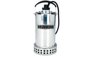 3 4 Hp Submersible Utility Pump Stainless Steel Construction 4400 Gph Draining