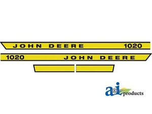 John Deere 1020 Tractor Decal Set