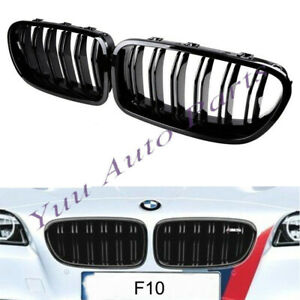 Painted Glossy Black Front Kidney Grille Grill For Bmw Sedan F10 F11 M5 2010 14