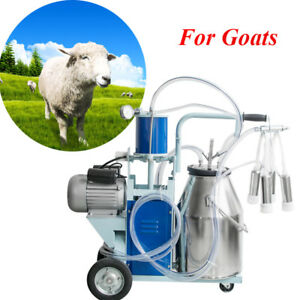 Us Portable Electric Goats cows Milking Machine Piston Type Milking Machine 110v