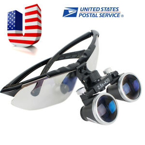 Us Sale Dental Surgical Medical Binocular Loupes 2 5x420mm Glass Loupe Magnifier