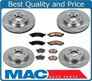 New Front Rear Disc Brake Rotors Ceramic Pads For 94 04 Ford Mustang Cobra
