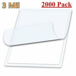 2000 Pack Letter Size Laminator Hot Laminating Pouches 9 X 11 5 Sheets 3 Mil
