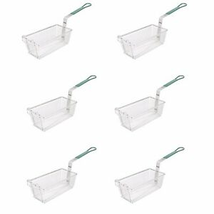 6 pack Commercial Twin Kitchen Fryer Basket Hook Handle Deep Fried Food Fries