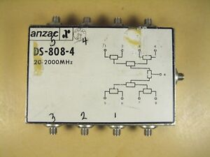 Anzac Ds 808 4 20 2000 Mhz Power Divider
