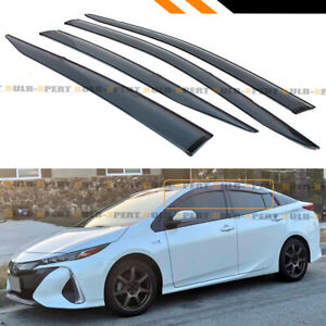 For 2016 18 Toyota Prius Prime Smoke Tinted Window Visor Rain Guard W Clips