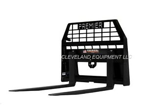 New Premier 48 Pallet Forks Frame For Skid Steer Wheel Loader 8000 Capacity