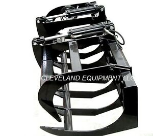 New 60 Ld Root Grapple Attachment Skid steer Loader Bucket Rake Tine Bobcat 5