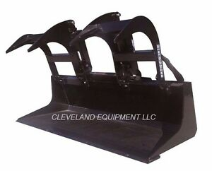 New 60 Ld Grapple Bucket Attachment Skid steer Loader Tractor Claw Bobcat 5
