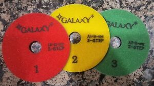 4 New All In One Diamond Polishing Pad Set For Granite Engineered And Stones