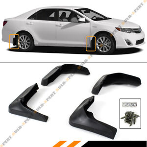 For 2012 2014 Toyota Camry Front Rear Splash Guards Dirt Mud Flaps Set 4pcs
