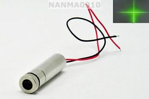 30mw Focusable 515nm 520nm Grass Green Cross Beam Laser Diode Module Dc3v