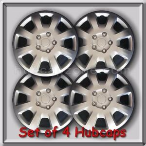 4 16 Silver Mitsubishi Galant Hubcaps 2007 2008 Oem Replacement Wheel Covers