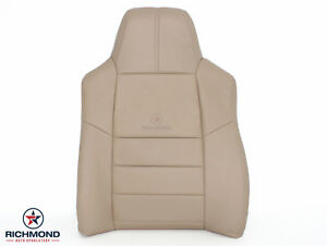 2008 F250 F350 Lariat driver Side Lean Back Replacement Leather Seat Cover Tan