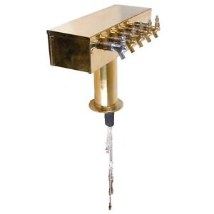 5 Tap Brass Beer Tower With Fittings
