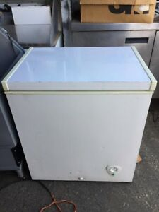 Used White Commercial Chest Freezer