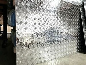 3003 Aluminum 5 bar Diamond Plate 063 X 48 X 96 4 Pack
