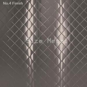 8 Pack 22ga Brushed Quilted Diamond Stainless Steel Sheets 4 X 10