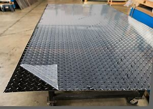 Black Aluminum Diamond Plate Sheet 1 Sheet 0 032 x48 x96