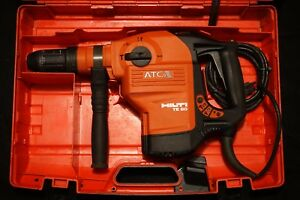 Hilti Te 60 Atc Avr Heavy Duty Rotary Hammer Drill With 2 Bits And Case 70 80 76