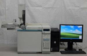 Agilent 6890 N Gas Chromatograph System Single Fid With Computer W Software