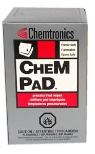 Chempads By Itw Chemtronics Cp400 Pre saturated Alcohol Wipes box Of 50 Pads
