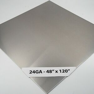 430 Stainless Steel Sheet 24ga 4 x10 4 Brushed 8 Pack