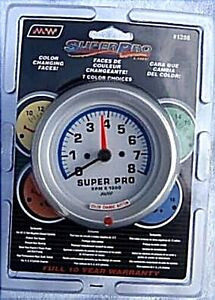 Super Pro 1288 Tachometer 0 8000 Rpm 7 Color Spectrum 3 1 2 Inch