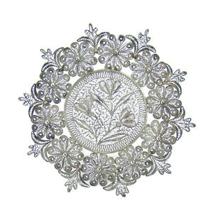 Sterling Filigree Dish With Intricate Details 1910